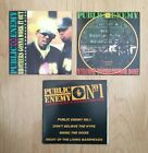 Lot 3 Rare Public Enemy Card Sleeve Maxi CD Singles CD5 UK/Australia 1989/1990