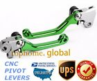 For Kawasaki KX250F KX450F 2013-2018 KX250 19 Clutch Brake Levers Pivot Green US