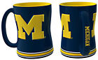 Michigan Wolverines Coffee Mug 15oz Sculpted NEW NCAA Tea Microwave Cup CDG