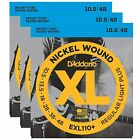 D'Addario 3 Sets EXL110+ Set Regular Light Plus Electric Guiar Strings 10.5 - 48