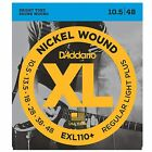 D'Addario 1 Set EXL110+ Set Regular Light Plus Electric Guiar Strings 10.5 - 48