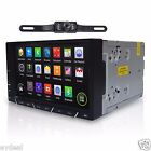 Android 4.4 Double Din GPS Nav Car In Dash Stereo FM AM Radio 3G WiFi Camera Map