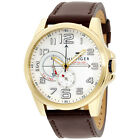 Tommy Hilfiger Men's 1791003 Stainless Steel Watch with Brown Leather Band