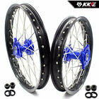 KKE 19/16 Big Kids Wheels Rims Set Fit YAMAHA YZ80 1990-2001 YZ85 2002-2018 Blue