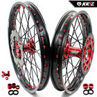 HONDA  WHEEL RIM SET  XR400R 600R 650R DISC SPROCKET RED NIPPLE 21/18 US09