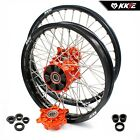 KKE 21/18 Enduro CUSH Drive Wheels Rims Set For KTM EXCF EXCR 125-530 350 Orange
