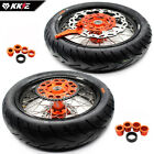 KKE 3.5/4.25 Complete Supermoto Wheels Rims Tire For KTM SXF XCW XCF EXC EXCF