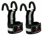 EVO Weight lifting Metallic Hook Gym Straps Neoprene wrist Support Wraps grips