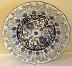 Vintage Greek Manousakis Style Blue Enamel Pottery Ceramic Decorative Plate 11