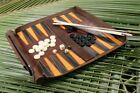 Leathersafe Roll & Play Packgammon Backgammon