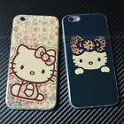 Cute Hello Kitty For iPhone 6 S Plus Laser Blue ray Cover Soft TPU Slim Case