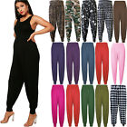Ladies Plus Size Printed Harem Pants Cuffed Bottom Womens Ali Baba Trousers 8-26