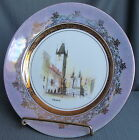 VUP OTROCIN PRAHA DECORATIVE WALL PLATE - SOUVENIR FROM PRAGUE HAND PAINTED VINT