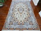 Authentic Hand Made Mint Persian Isfahan Esfahan Silk Exquisite Rug H