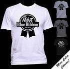 Pabst Blue Ribbon Logo T shirt New More Color Choices