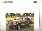 1990 FORD BRONCO II XLT XL SPORT EDDIE BAUER SHOWROOM BROCHURE NOS