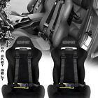 Universal 2X Tow 4 Point Safety Harness 2 Inch Strap Seat Belt Blac