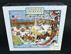 Charles Wysocki NOS Small Town Christmas Puzzle Americana 1000 pc MB Hasbro Gift