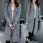 Women Ladies Warm Casual Knit Dress Coat Jacket Cardigan AU Size 16 18 20 22 516