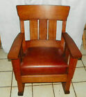 Quartersawn Oak Short Back Mission Rocker / Rocking Chair  (R211)