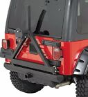 Smittybilt SRC Rear Bumper With Hitch  Tire Carrier For 1987 2006 Jeep Wrangler