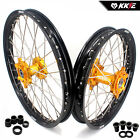 SUZUKI MX WHEELS RIMS SETS RM125/250 RM 125 250 GOLD NIPPLE 21/19 US01