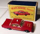 Vintage Lesney Matchbox Regular Wheels Fire Chief Ford Fairlane #59b  MIB