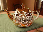 Vintage GIBSONS Staffordshire England Gold Tea Pot
