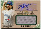 2014 Topps Triple Threads Autograph Jumbo Relic Emerald R.A. Dickey Card - 33 50