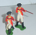 Old Plastic BRITAINS Swoppets, American Rev War British Infantry, 2 Pc., 1960s