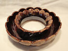 Brown Drip Pottery Decorative Centerpiece and Vase/Candleholder