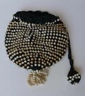 Very Old (1920's) Black and White Beaded Bag