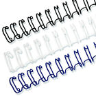 3 8 31 Twin Loop Wire O Binding Spines 100 pack Black White or Navy