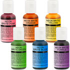 US Cake Supply by Chefmaster Airbrush Cake Neon Color Set in 07 fl oz Bottles