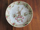 222 Fifth Christmas Lodge Deer Head Antler Border Mini Appetizer/Dessert Plates