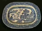 Ridgways England Royal Semi Porcelain 1832 Blue Willow Serving Plate RARE