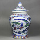 Rare Chinese Exquisite painting Blue and white porcelain jar Vase y6