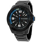 Tommy Hilfiger Black Dial Black PVD Stainless Steel Mens Watch 1791001
