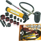 HYDRAULIC CONDUIT METAL STEEL KNOCKOUT PUNCH DIE TOOL SET HOLE PUNCHER WITH CASE
