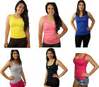 Womens SOFRA 100 Cotton Ribbed Rib A Shirts Tank Tops Style TT200 Only 499