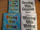 Growing with Grammar Writing Level 7 set student manual answer keys