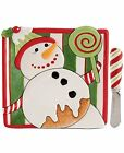 Fitz and Floyd Serveware, Christmas Confections Snowman Snack Plate