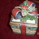 FITZ AND FLOYD LIDDED BOX ENCHANTED HOLIDAY GIFT
