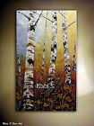 Original Birch Forest Painting,Palette Knife,Impasto.40
