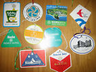 JAPAN lot of 10 vintage luggage hotel labels tags