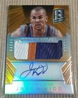 *Must See* 2014-15 Spectra Orange #18 25 Jason Kidd 3 Color patch On Card Auto