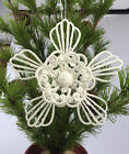 White Shining Flower Christmas Decorations Baubles Party Ornament Xmas Metal