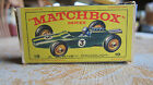VINTAGE MATCHBOX SERIES RACE CAR BY LESNEY PRODUCT-MADE IN ENGLAND