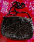 Vintage Designer-Deco style Black Seed-Bead Evening bag