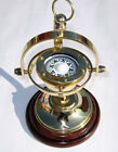 Vintage Brass Nautical Ship's Gimballed Vintage Compass Reproduction  Decor
